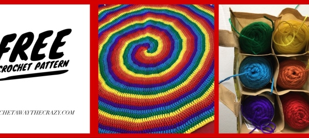 Free Crochet Pattern: Rainbow Swirl Blanket | Craft Away the Crazy